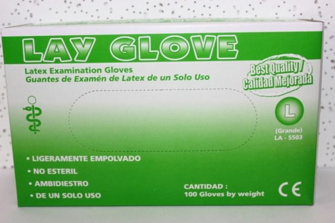 Guantes de Examen Latex No Esteril Large